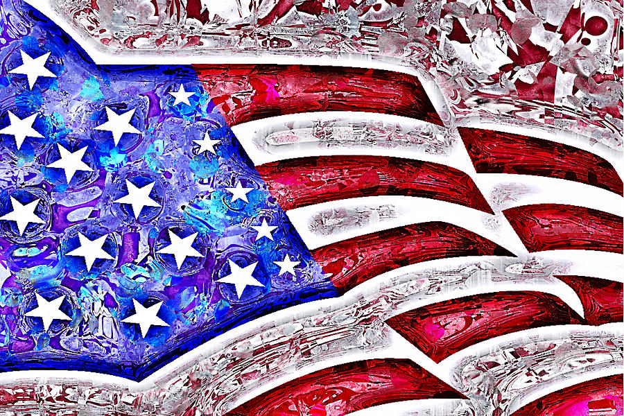 Non Traditional  Abstract  Abstract American Flag Art