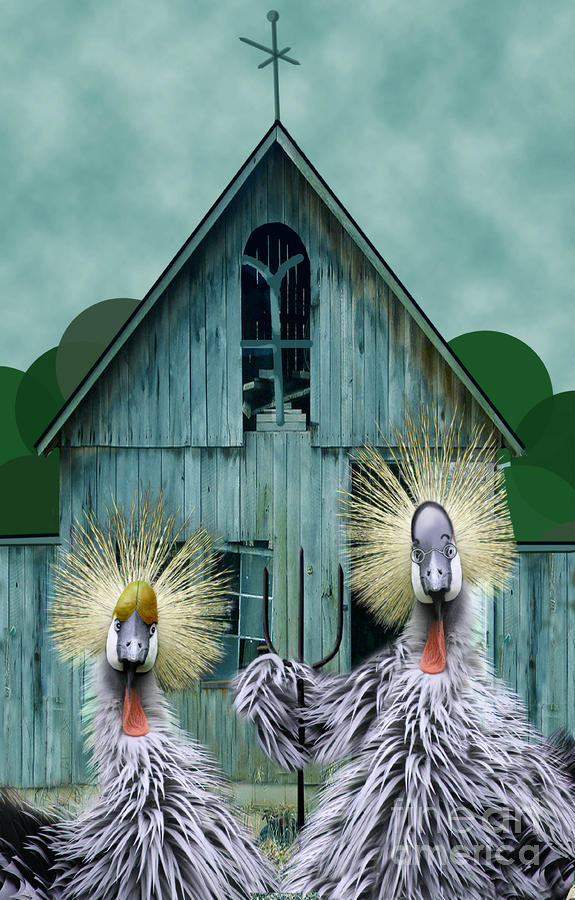 American Gothic Revisisted  Digital Art  - American Gothic Revisisted  Fine Art Print