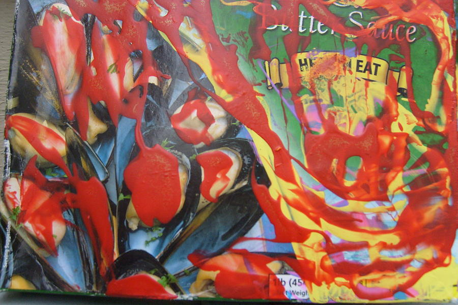 American Mussels With Catsup Painting