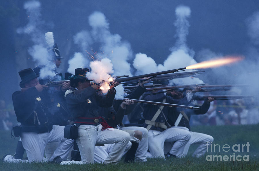 American Night Battle Photograph