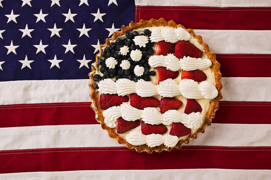 American Pie On American Flagamerican Pie On American Flagamer Photograph  - American Pie On American Flagamerican Pie On American Flagamer Fine Art Print