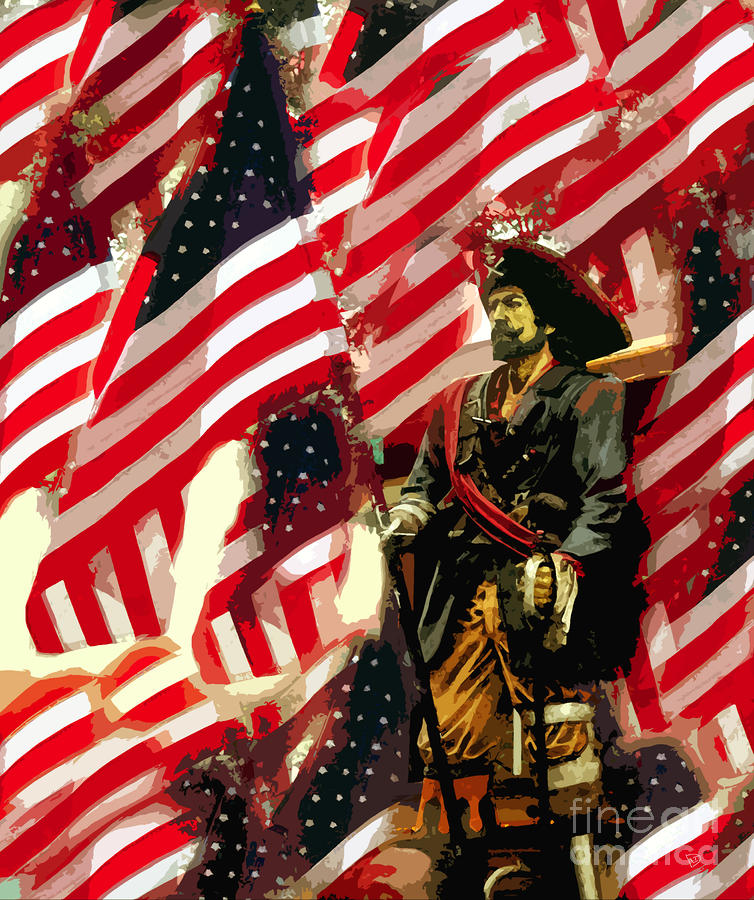 American Pirate Painting