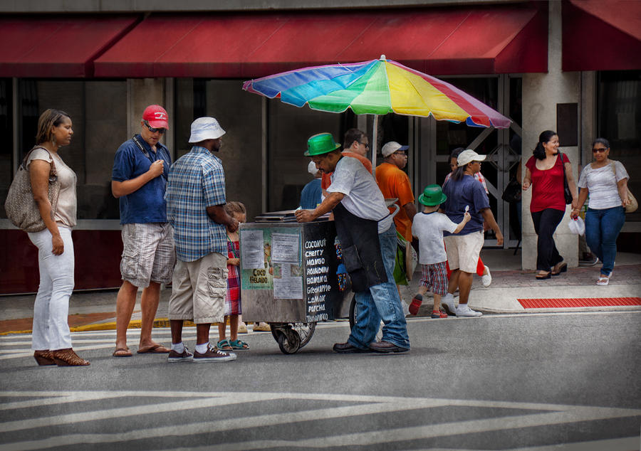 Americana - Mountainside Nj - Buying Ices  Photograph  - Americana - Mountainside Nj - Buying Ices  Fine Art Print