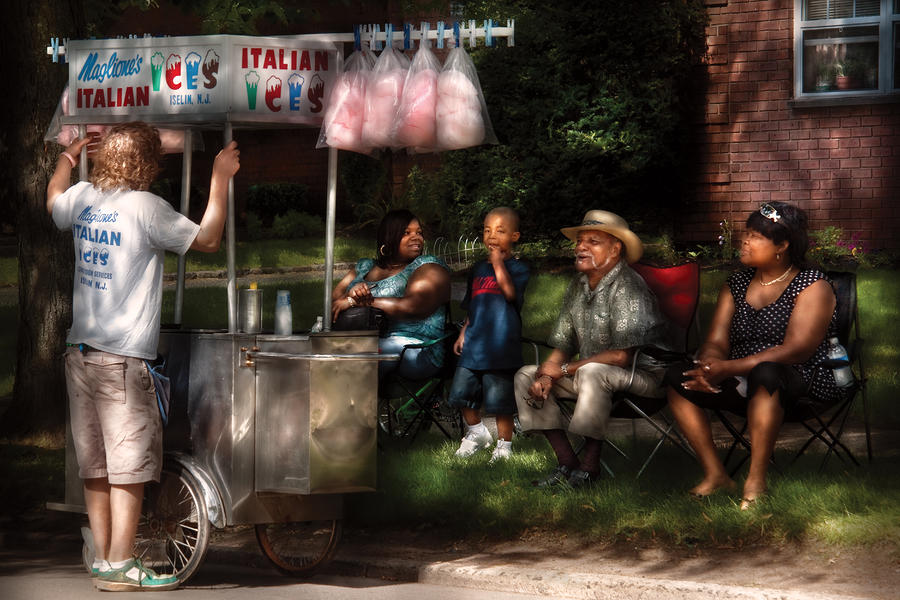 Americana - People - Buying Treats Photograph  - Americana - People - Buying Treats Fine Art Print