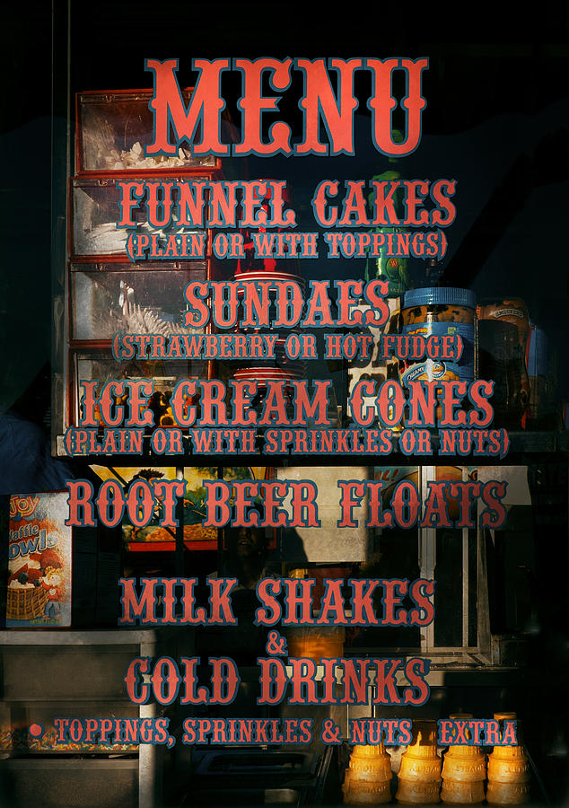 Americana - Food - Menu  Photograph