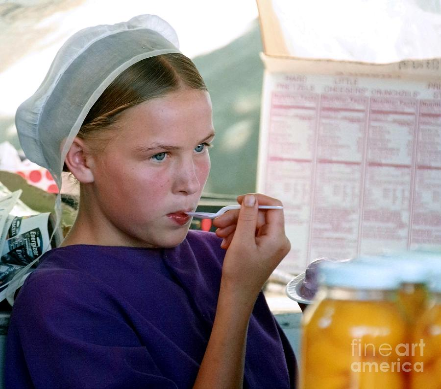 Amish Girl Photograph