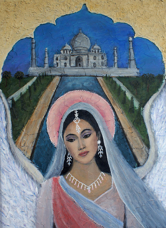 Angel Painting - Amishi An Earth Angel Representing A Young Bride On Her Wedding Day by The Art With A Heart By Charlotte Phillips