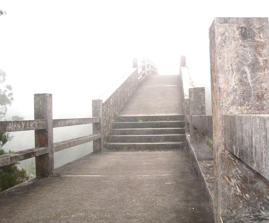 Bridge Photograph - Among The Clouds by Jonathan Lagace