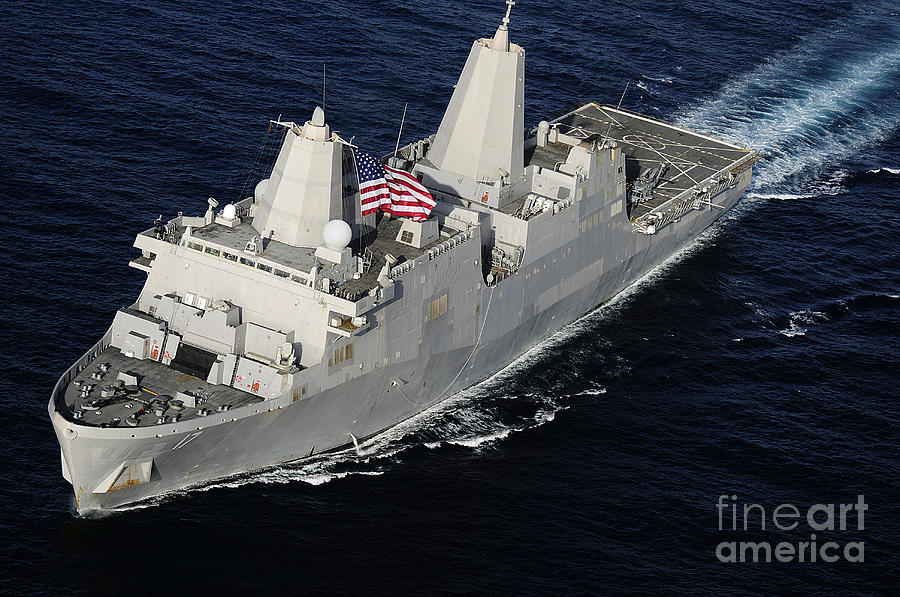 Amphibious Transport Dock Ship Uss San Photograph  - Amphibious Transport Dock Ship Uss San Fine Art Print