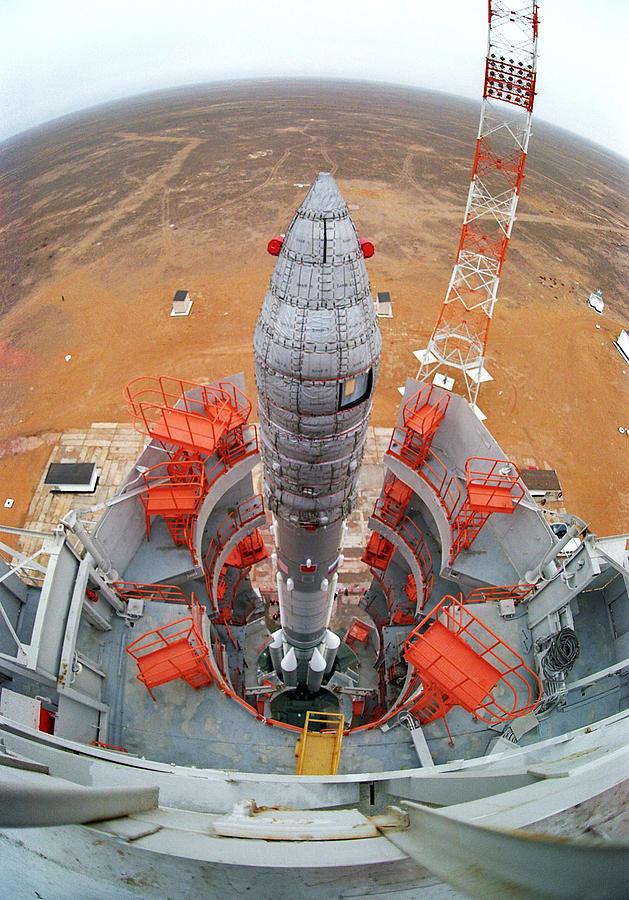 Ams 23 Communications Satellite Launch Photograph