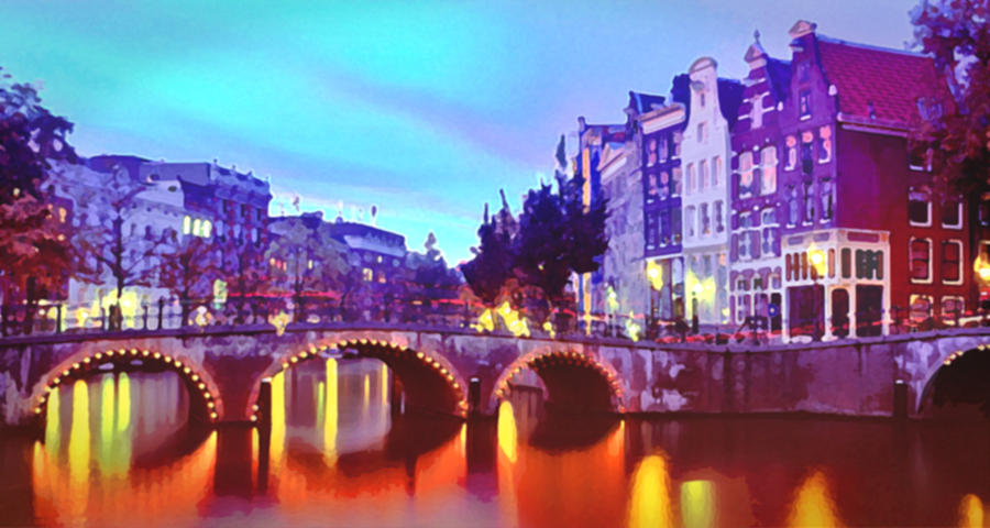 Amsterdam At Dusk Digital Art