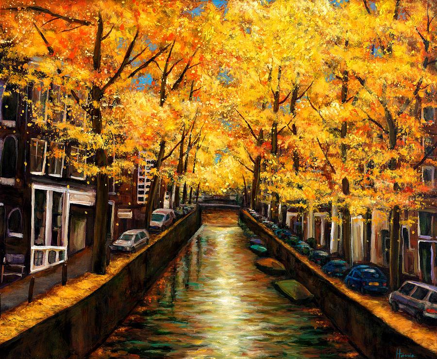 Amsterdam Autumn Painting