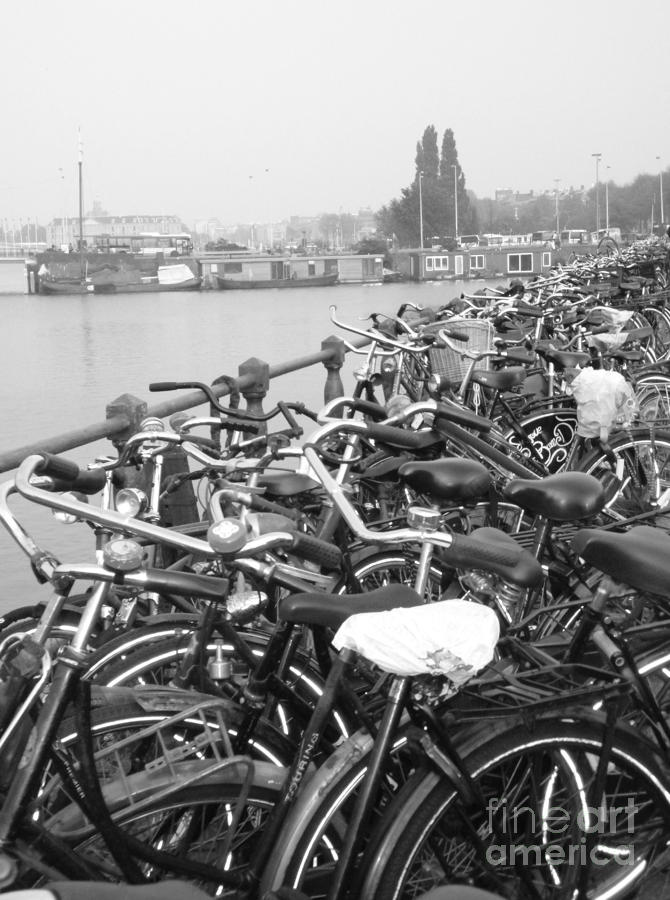 Bike Photograph - Amsterdam Bikes by Erica Ross