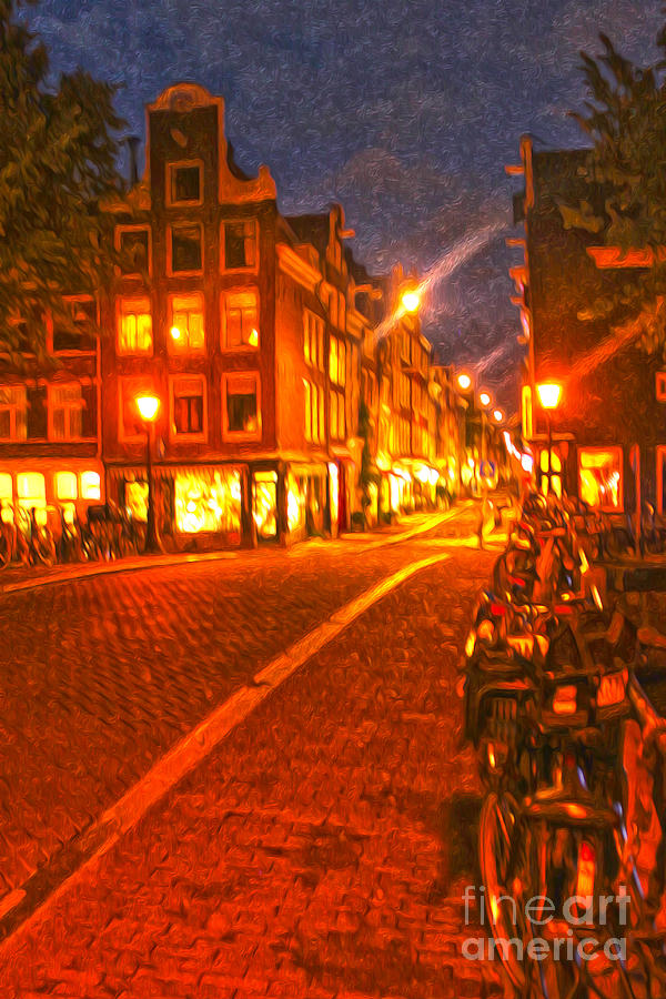 Amsterdam By Night - 02 Painting