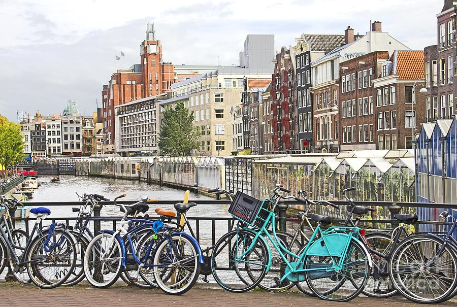 Amsterdam Canal And Bikes Photograph  - Amsterdam Canal And Bikes Fine Art Print