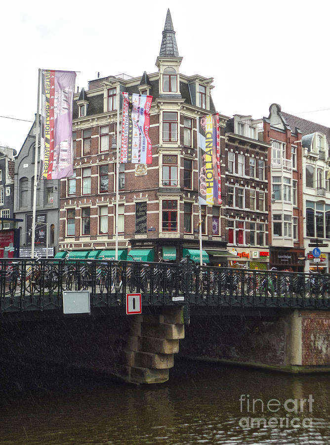 Amsterdam Photograph - Amsterdam Canal Bridge - 04 by Gregory Dyer