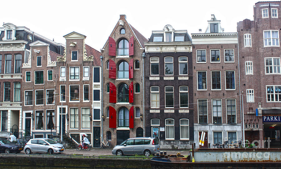 Amsterdam Photograph - Amsterdam Canal Houses by Gregory Dyer