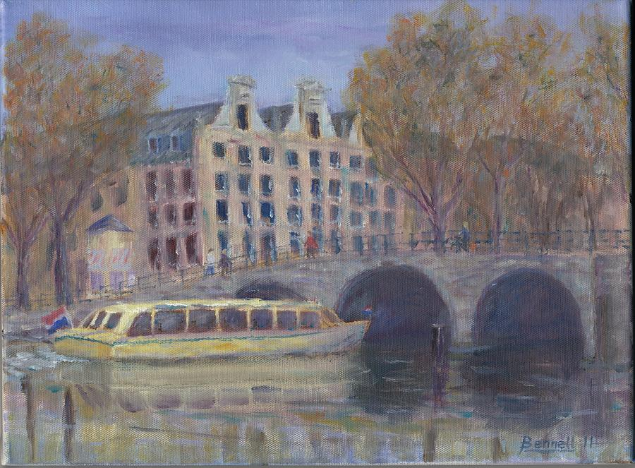 Amsterdam Canal Tour Painting