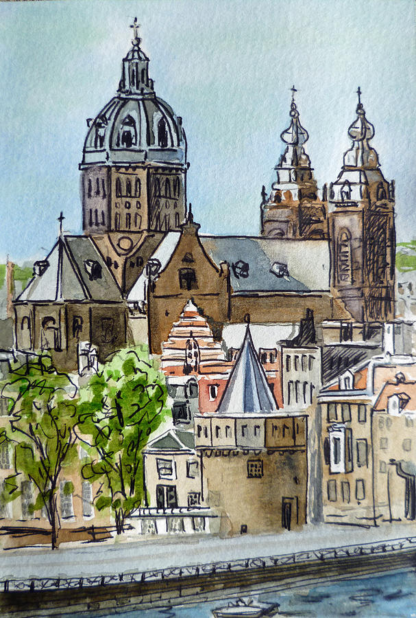 Amsterdam Holland Painting  - Amsterdam Holland Fine Art Print
