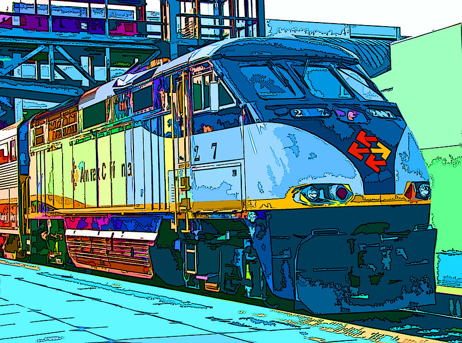 Amtrak Locomotive Study 2 Photograph  - Amtrak Locomotive Study 2 Fine Art Print