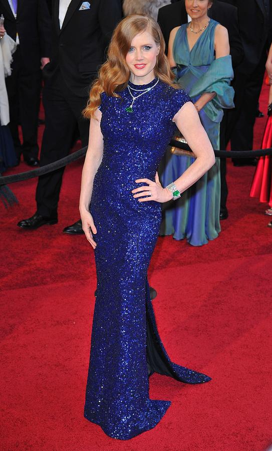 Amy Adams Wearing Lwren Scott Dress Photograph