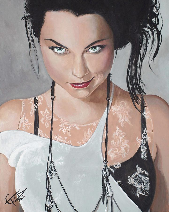 Amy Lee - Smirk Painting  - Amy Lee - Smirk Fine Art Print