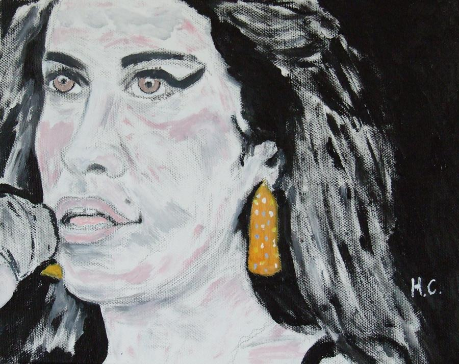 Amy Winehouse Painting