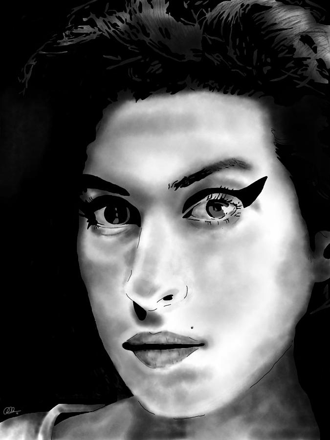 Amy Winehouse Digital Art  - Amy Winehouse Fine Art Print