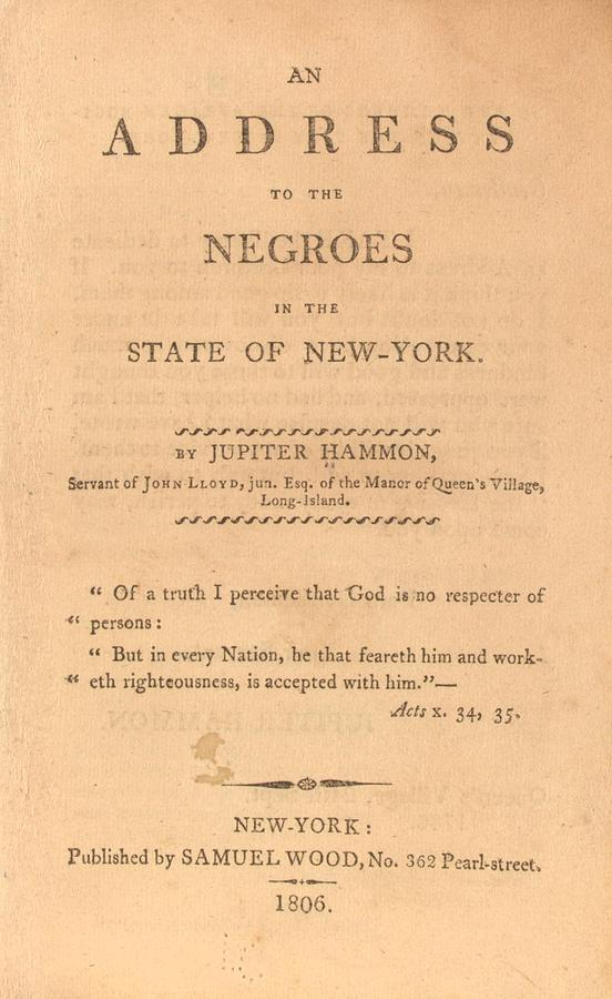 An Address To The Negros In The State Photograph