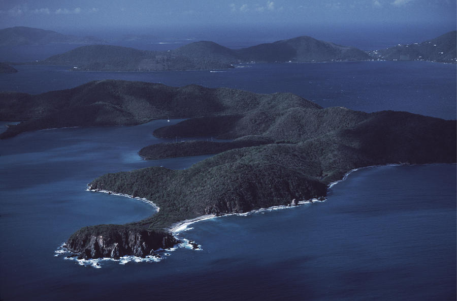An Aerial Of Saint John Island Photograph
