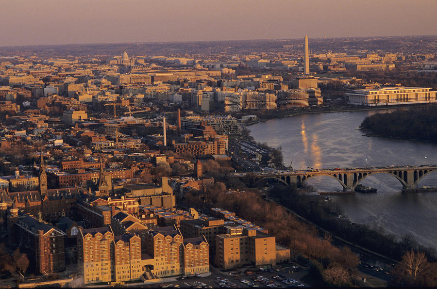 An Aerial View Of D.c. And The Potomac Photograph  - An Aerial View Of D.c. And The Potomac Fine Art Print