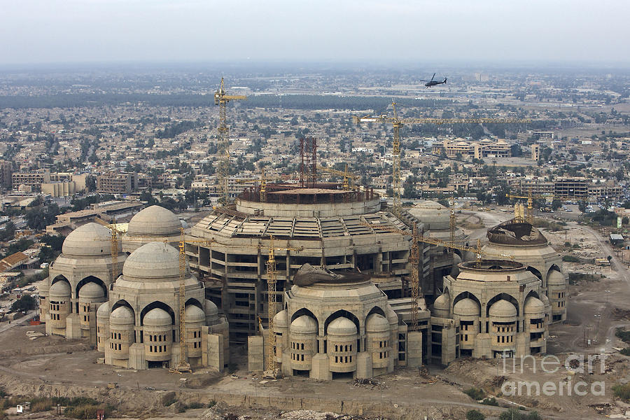 Aerial View Photograph - An Aerial View Of Saddam Hussiens Great by Terry Moore