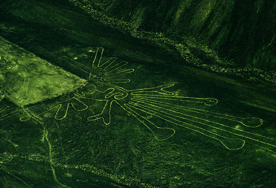 An Aerial View Of The Nazca Lines. They Photograph