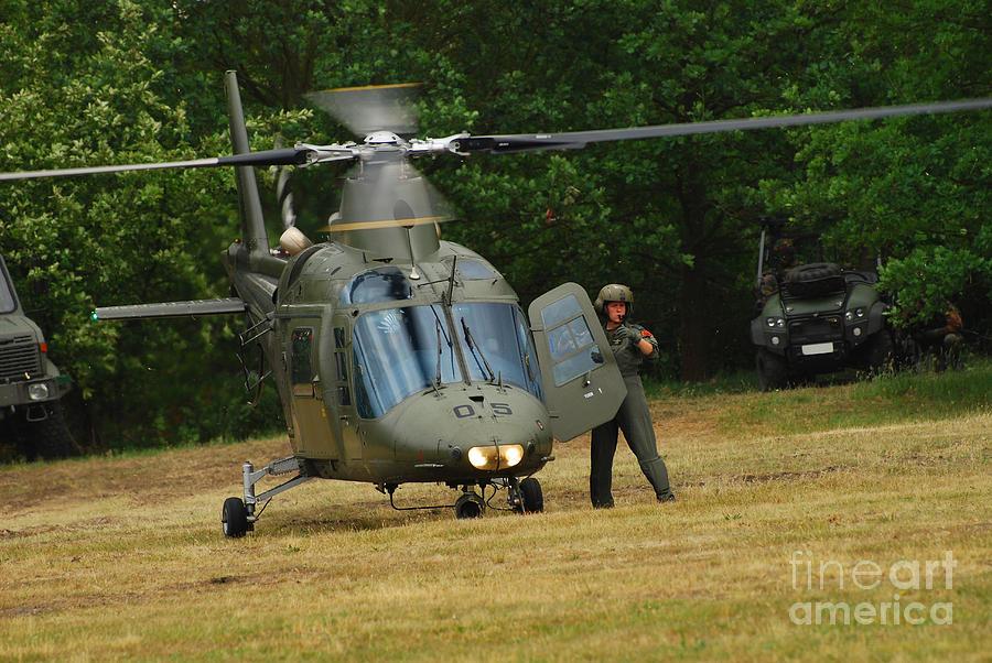 An Agusta A109 Helicopter Photograph