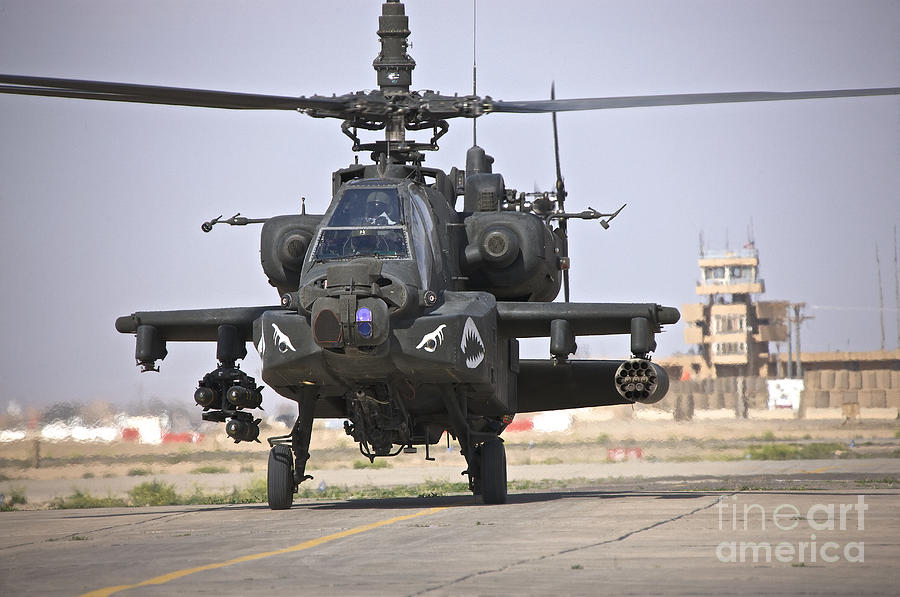 An Ah-64 Apache Helicopter Returns Photograph