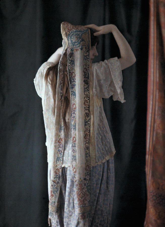 An Algerian Woman Models A Headdress Photograph