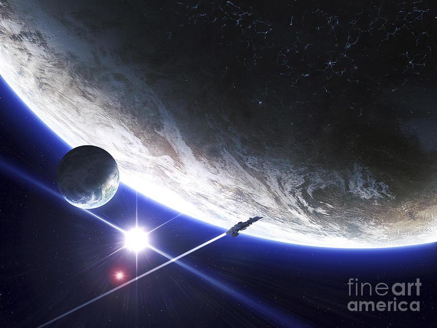 An Alien Patrol Zooms Digital Art