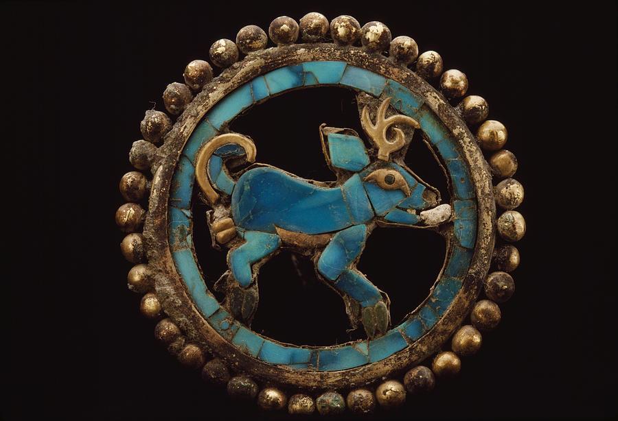 An Ancient Moche Indian Ear Ornament Photograph