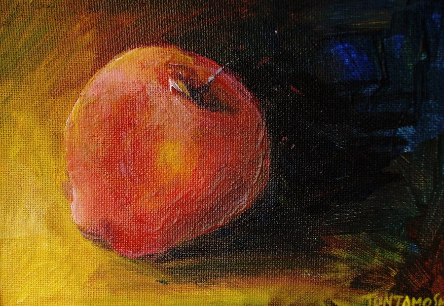 An Apple - A Solitude Painting  - An Apple - A Solitude Fine Art Print