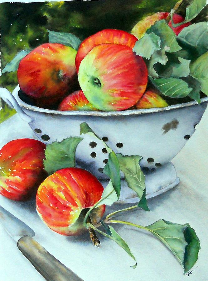 Apple Painting - An Apple A Day. by Carol McLagan