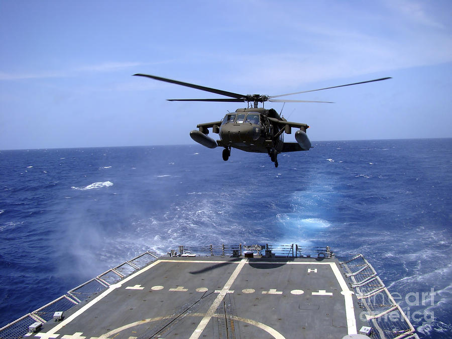 An Army Uh-60 Black Hawk Helicopter Photograph