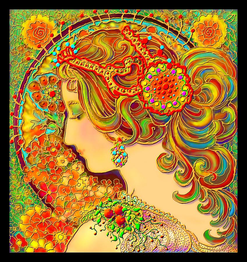 An Art Nouveau Fantasy Digital Art by Norval Arbogast