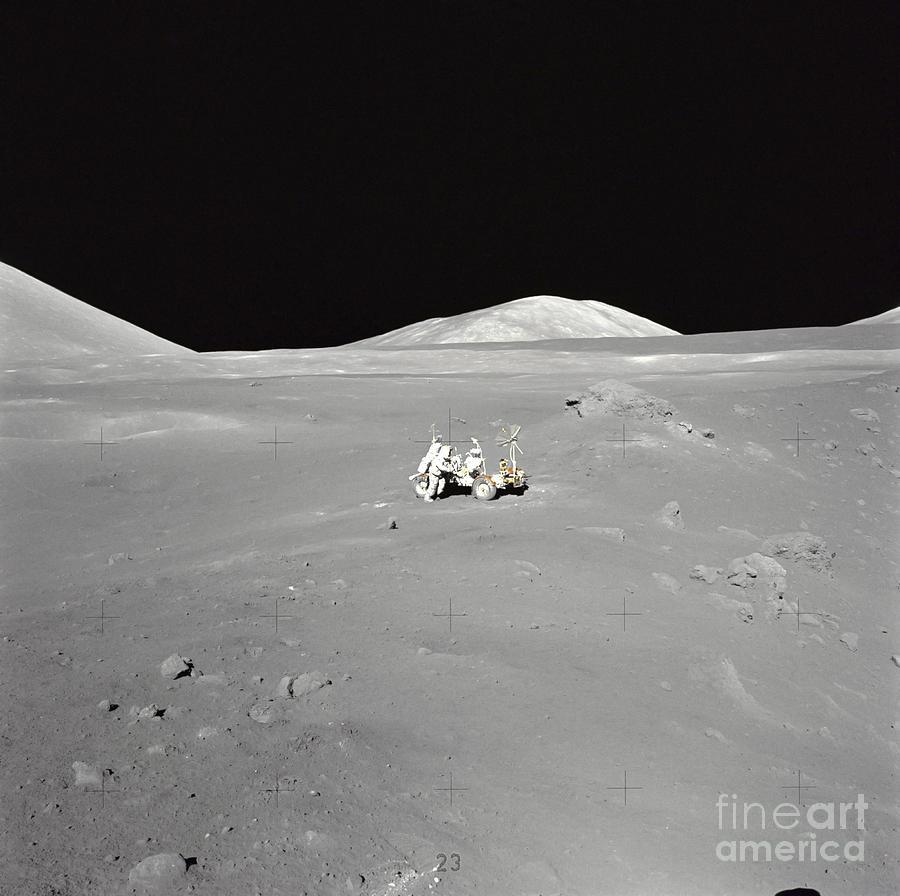 An Astronaut Working At The Lunar Photograph