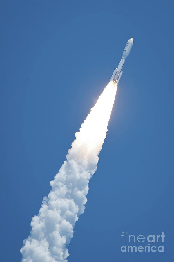 An Atlast V Rocket Carrying The Juno Photograph  - An Atlast V Rocket Carrying The Juno Fine Art Print
