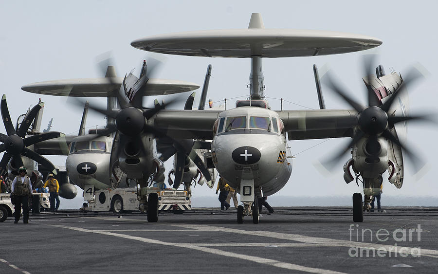 An E-2c Hawkeye Aircraft On The Flight Photograph