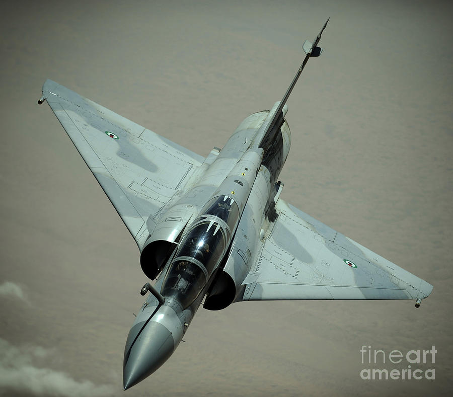 An Emirati Mirage 2000 Aircraft Photograph  - An Emirati Mirage 2000 Aircraft Fine Art Print