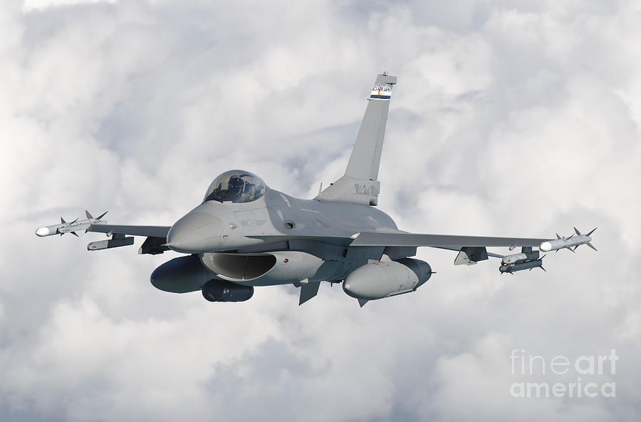 An F-16 From The Colorado Air National Photograph