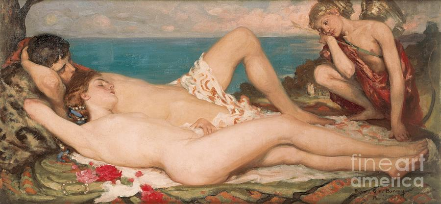 Female Painting - An Idyll by Rupert Charles Wolston Bunny