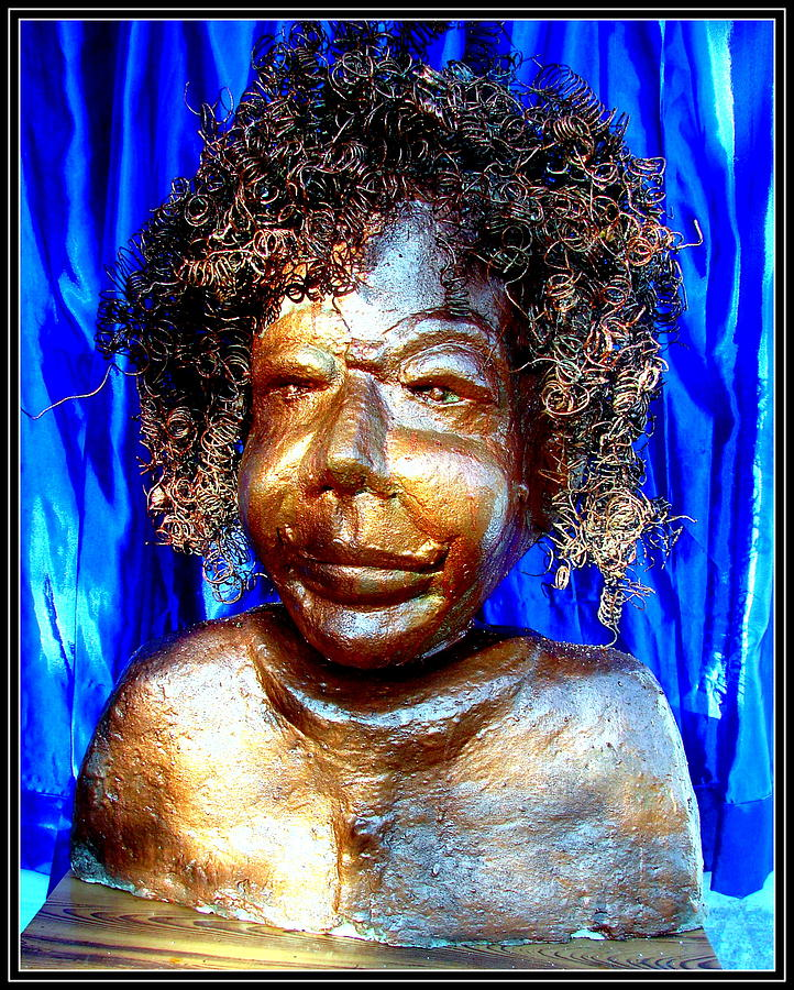 An Indian Saint Stya Sai Baba Sculpture  - An Indian Saint Stya Sai Baba Fine Art Print