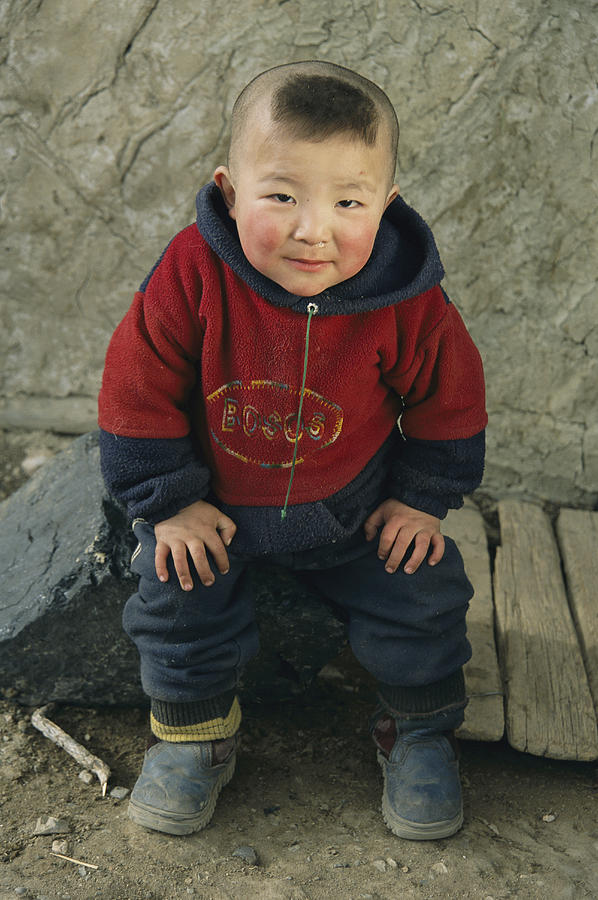 An Informal Portrait Of A  Kazakh Child Photograph
